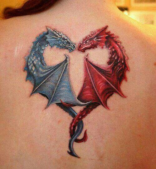 fire ice dragon tattoo tats pinterest ice dragon and ice dragon. Black Bedroom Furniture Sets. Home Design Ideas