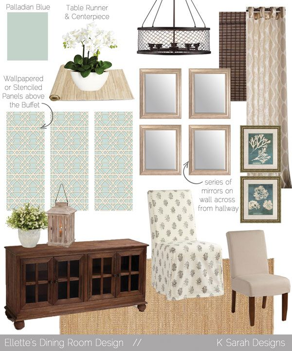 Sherwin Williams Worn Turquoise: Mood Boards // A Welcoming & Relaxing Living Room, Kitchen