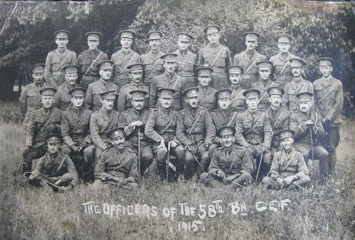 My Journey Back: Lest We Forget – Fred of the 58th Battalion CEF