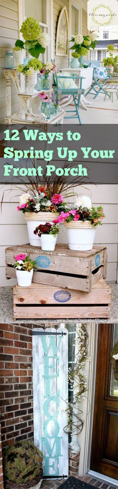 Adding a sign to your porch os the best way to bring in the spring spirit to your home! It can be a small one above some flowers, or a big wooden one that you hang up. Just use whatever you think would be best! Flowers are a perfect way to bring the sprin