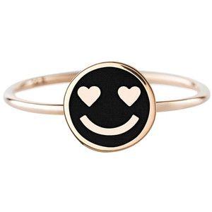 Art Youth Society Enamel Hearts Smiley Ring