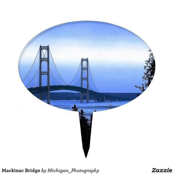 Mackinac Bridge Cake Topper