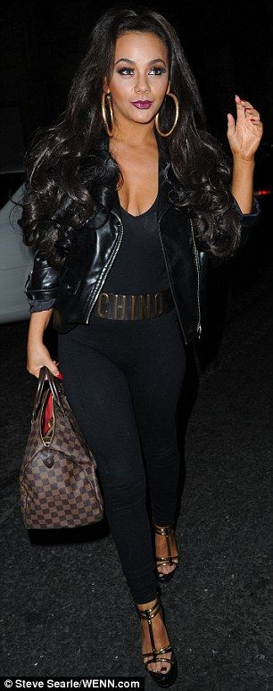 Big hair and big hoops from Chelsee Healey.