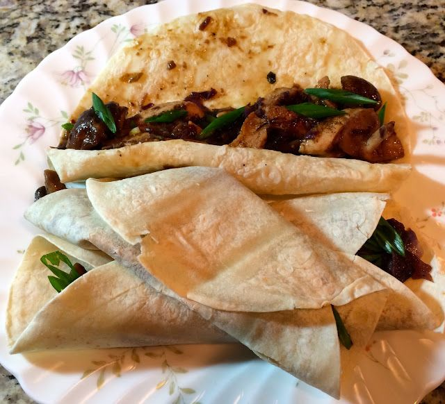 Moo Shu Chicken with Pancakes