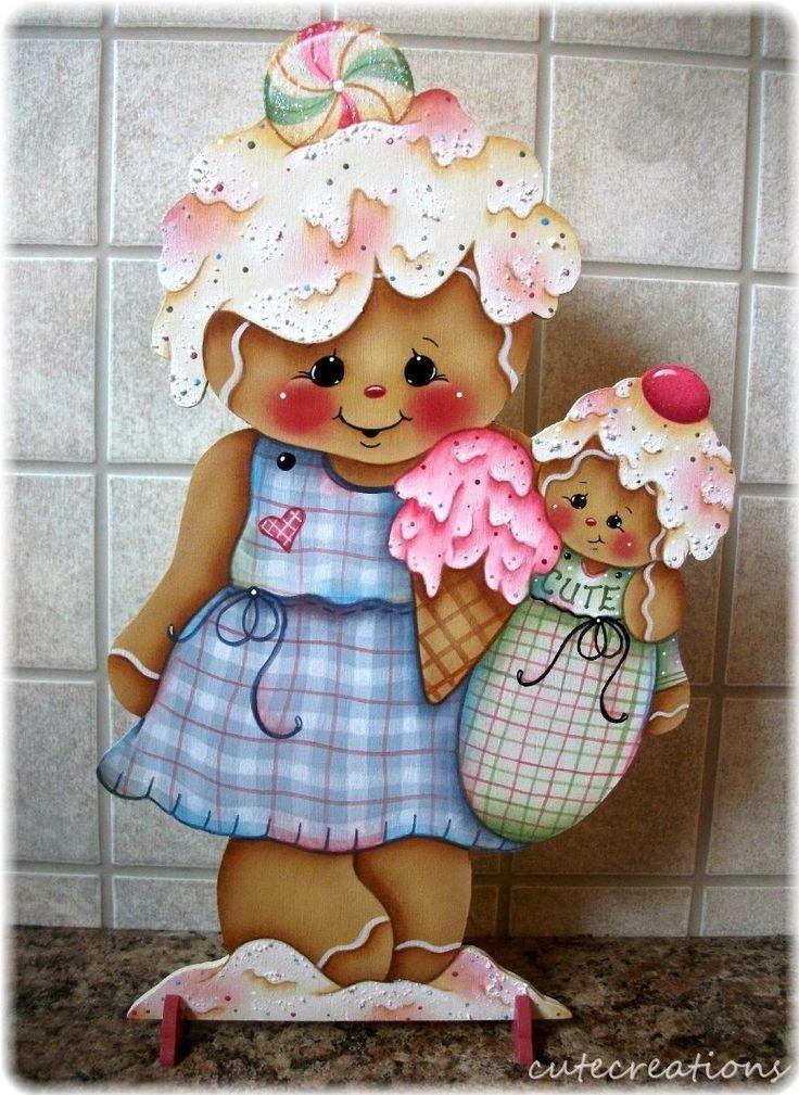HP GINGERBREAD Sweet Treats SHELF SITTER | Artesanías, Piezas de artesanía y acabadas, Artículos pintados a mano | eBay!