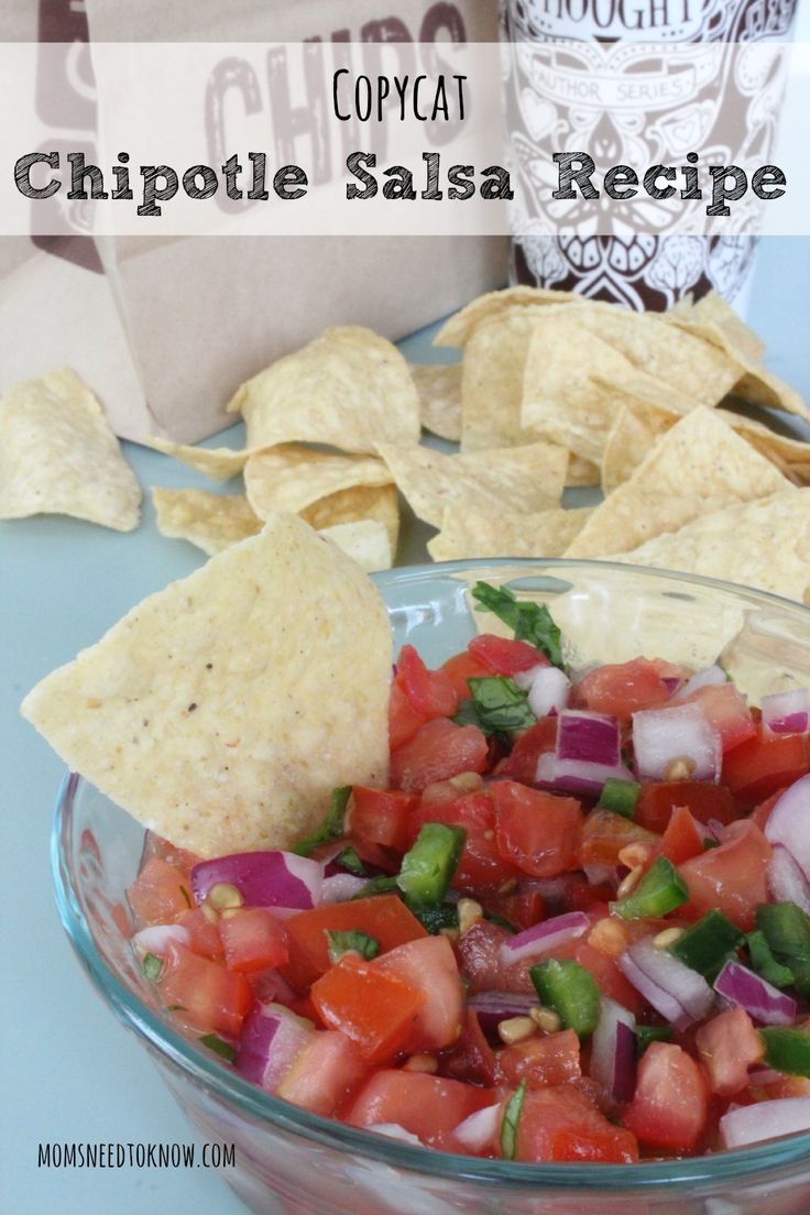 This easy salsa recipe is a copycat version of the famous Chipotle Mild Salsa. Packed with flavor and made only from fresh ingredients!