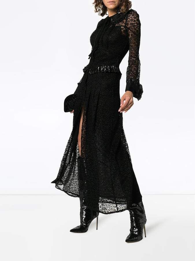 913e6c4a12c Alessandra Rich Lace Maxi Dress