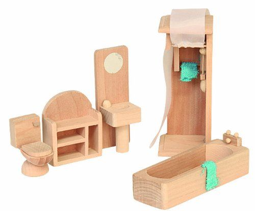 Beluga 70118 - Muebles de madera para el cuarto de baño de casa de muñecas: Amazon.es: Juguetes y juegos