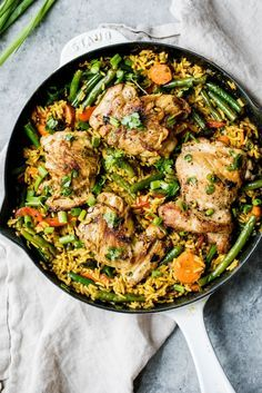 One Pan Thai Coconut Yellow Curry Chicken & Rice