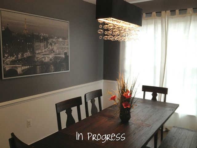 Dark Grey Dining Room Like The Idea Of Painting The