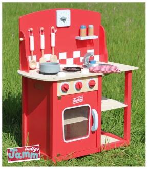 Indigo Jamm Red Toy Wooden Kitchen   Love This, So Much Nicer Than The  Plastic