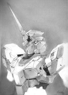 Gundam Unicorn - Chest Drawing