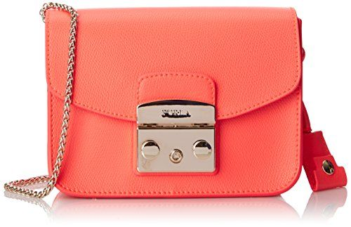 Furla Metropolis Mini Cross Body Bag, Neon/Bright Orange, One Size