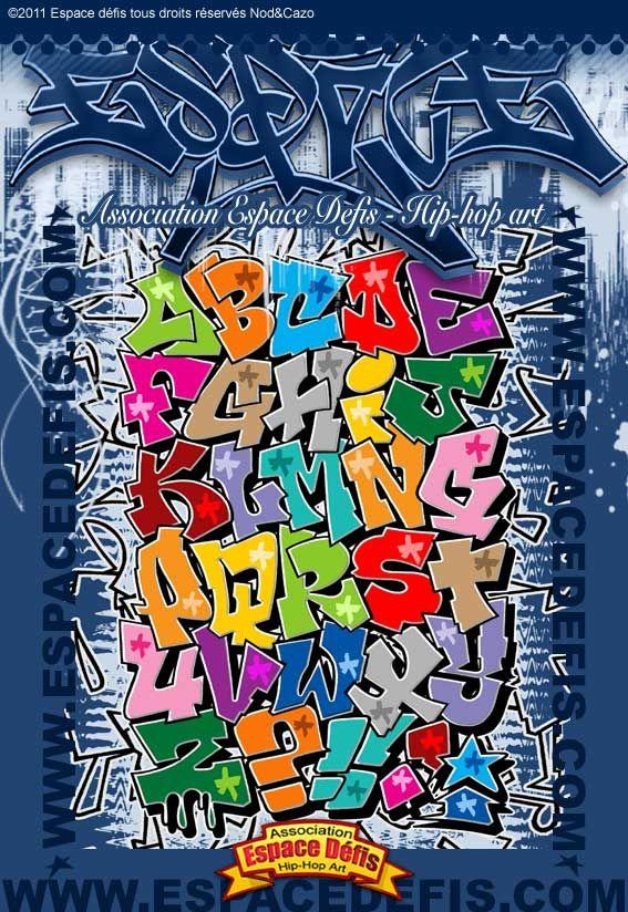 13 - Alphabet graffiti block style mis en couleur - Vous avez choisi celui-ci ! participez au ...