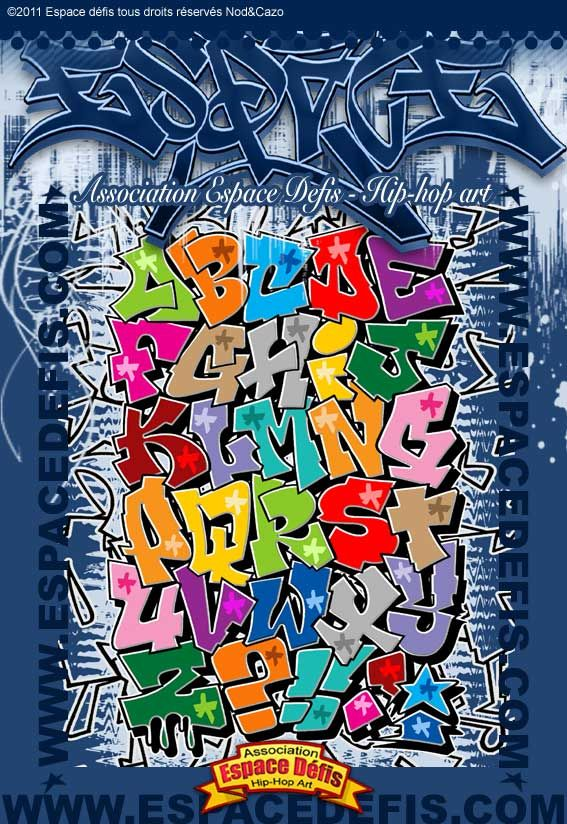 13 alphabet graffiti block style mis en couleur vous - L alphabet en graffiti ...