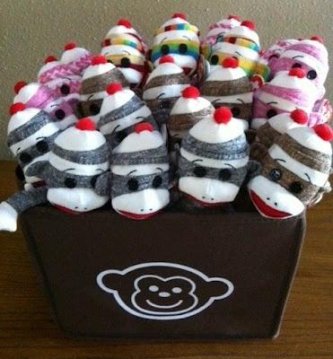 Sock Monkey party favors