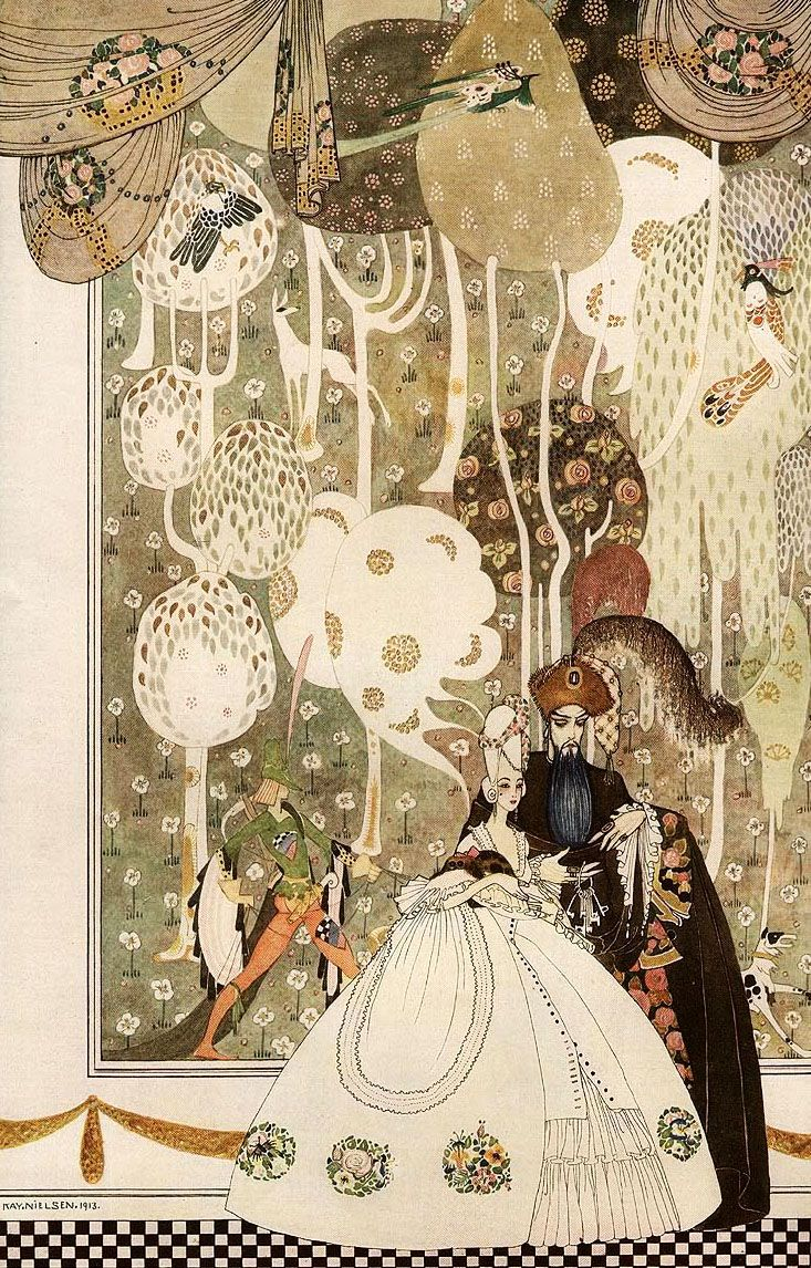 enchantingimagery: Kay Nielsen's interpretation of Bluebeard for London Illustrated News - beautiful!