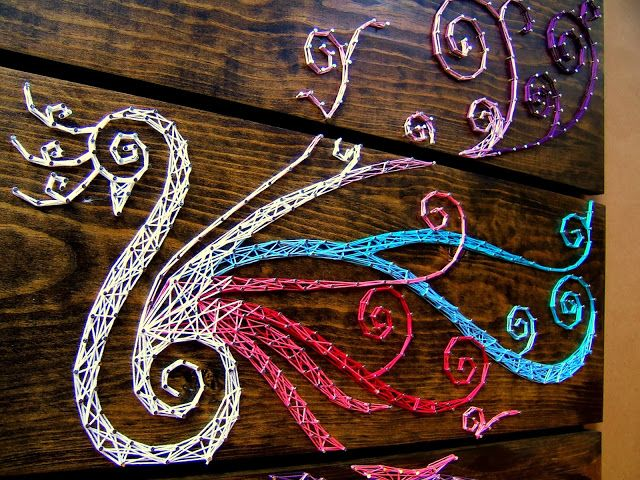 3-piece Peacock String Art {9 Red}