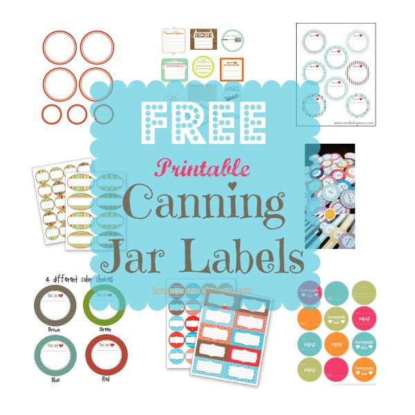 Free Printable Canning Jar Labels Roundup