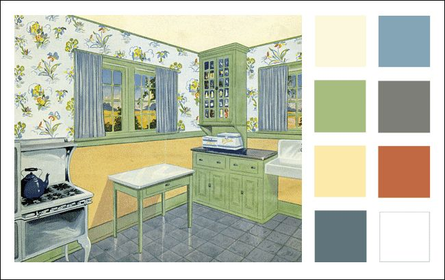 Best 25 vintage color schemes ideas on pinterest for Kitchen color planner