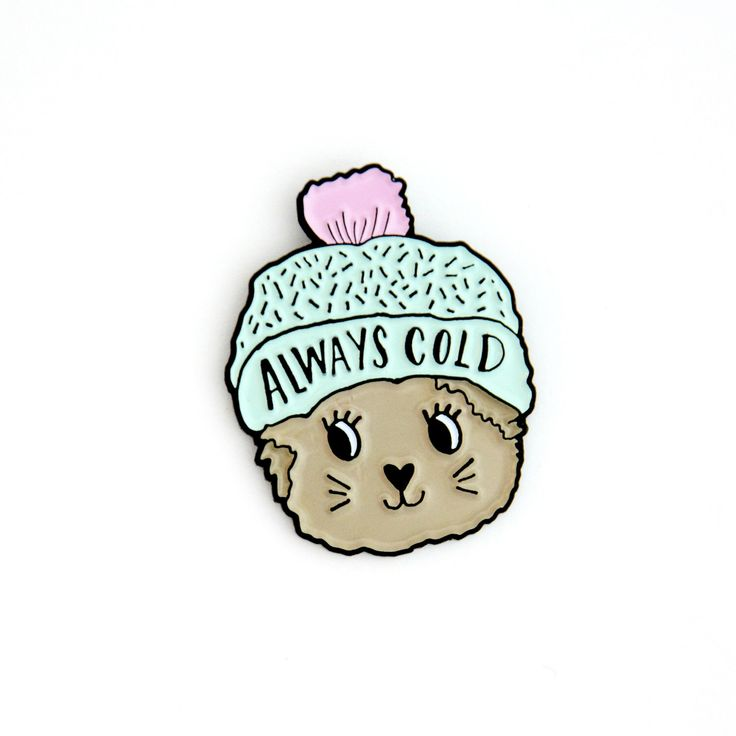 Always Cold Cat Hard Enamel Pin by PrintableHappies on Etsy