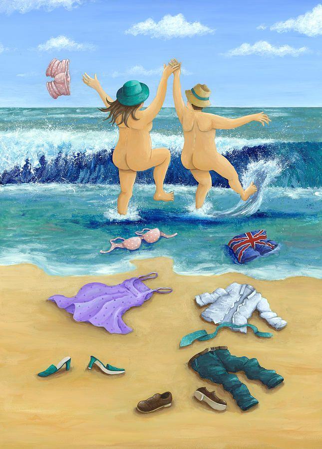 Skinny Dippers Photograph - Skinny Dippers Fine Art Print