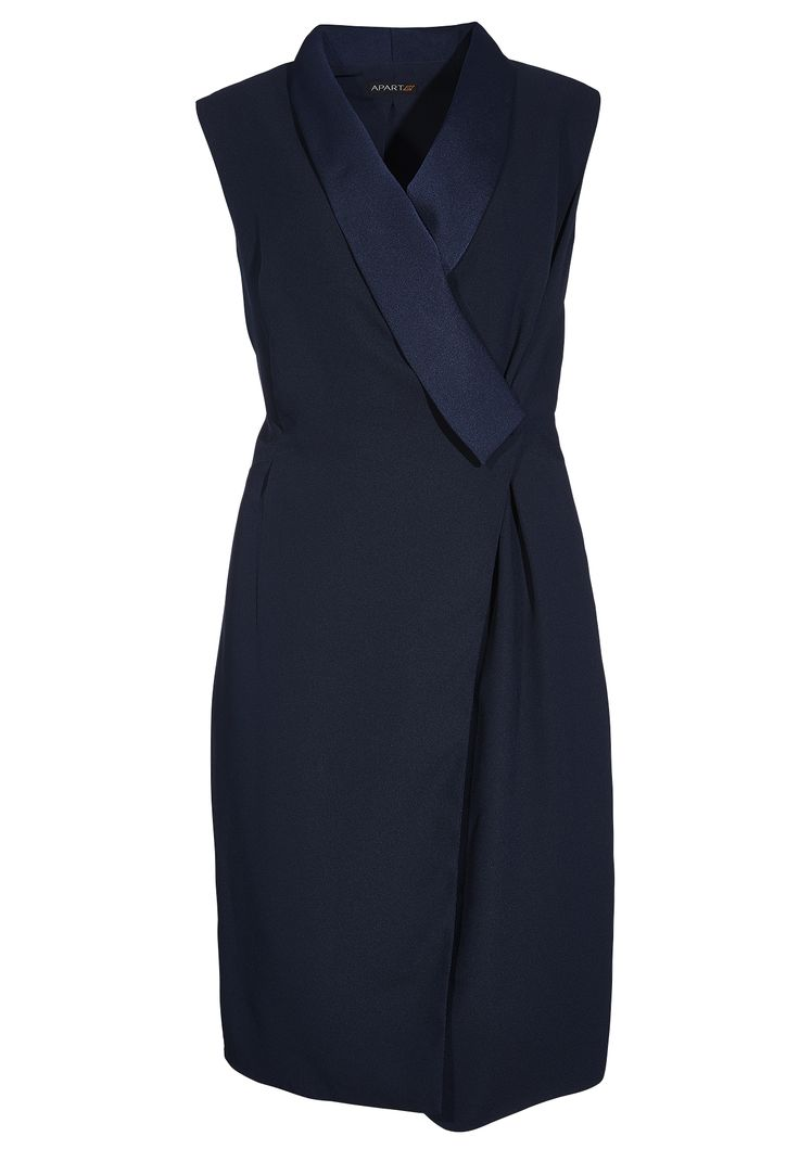 Wir Frauen mögen den Sommer. Und deshalb mögen wir auch Wickelkleider. So wie dieses! Das blaue Wickelkleid glänzt nicht nur durch die leicht glänzende Ware, aus welcher der langgezogene Schalkragen gemacht wurde. Es überzeugt auch,...