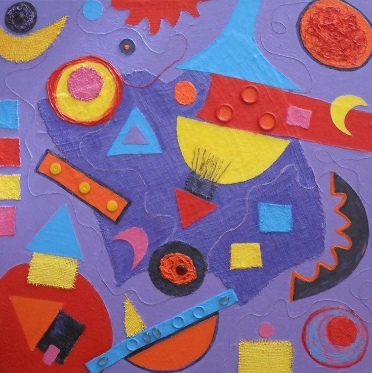 Abstract geometrisch, schilderij van Anita Dielen | Abstract | Modern | Kunst