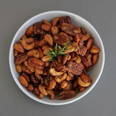 Chipotle & Rosemary Spiced Nuts - this is an Ina Garten recipe. I made them for our Chrostams party in Dec and they were a huge hit - delicious, addicting and they went fast. This is my my all-time favorite spiced nut recipe.