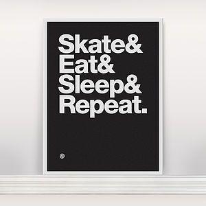 'Skate And Eat' Screen Print