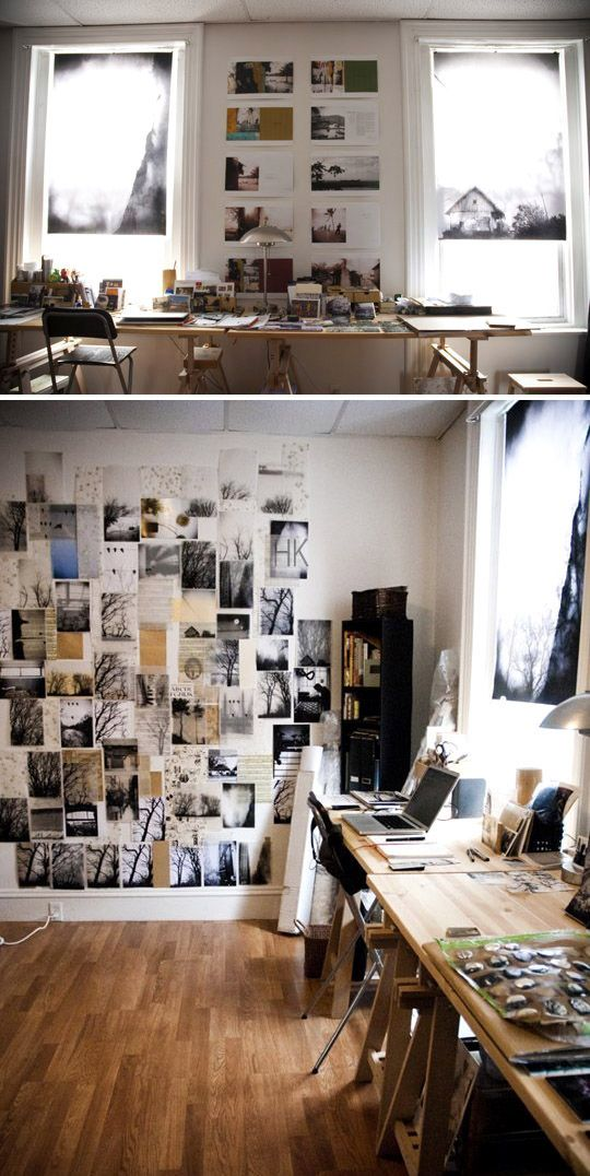 Julia's Solo Artist Space ( http://www.apartmenttherapy.com/julias-solo-artist-space-small-cool-contest-189921 )