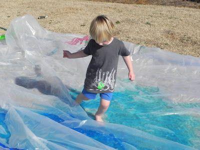 homeade outdoor waterbed: Water Plays, Kids Stuff, Outdoor Kids, Outdoor Waterbed, Outdoor Fun, Kids Activities, Water Mat, Outdoor Plays, Rednecks Waterbed