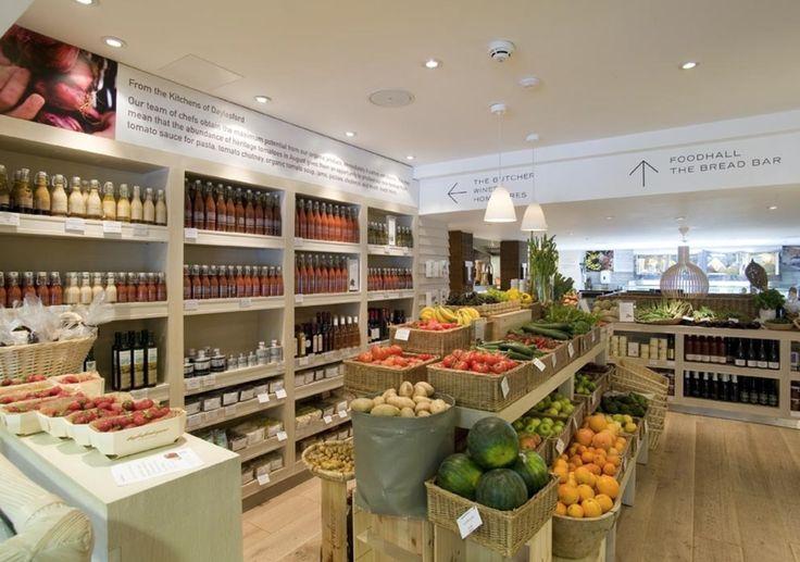 Inside Daylesford Organic.