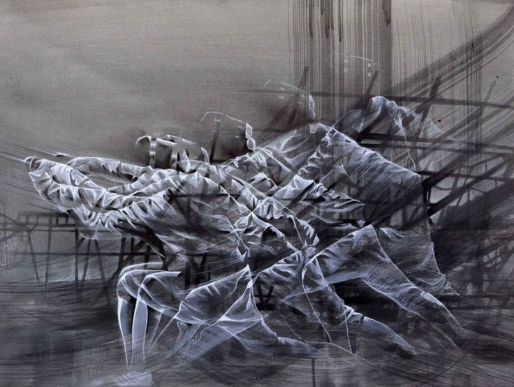Fencing: Dynamic Paintings by Aaron Li-Hill | Inspiration Grid | Design Inspiration