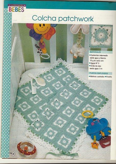 Crochet granny baby blanklet ❤️LCB-MRS❤️ with diagrams.---- lo spazio di lilla: Copertina per neonato all'uncinetto millequadri