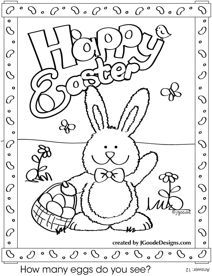 Image Detail For Free Printable Easter Bunny Coloring Page