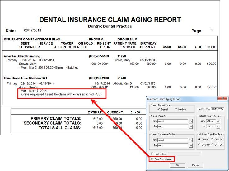 Understanding The Insurance Claims Aging Report Dental Insurance