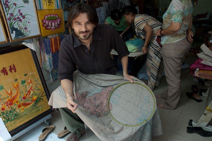 #Making #embroideries in #Saigon