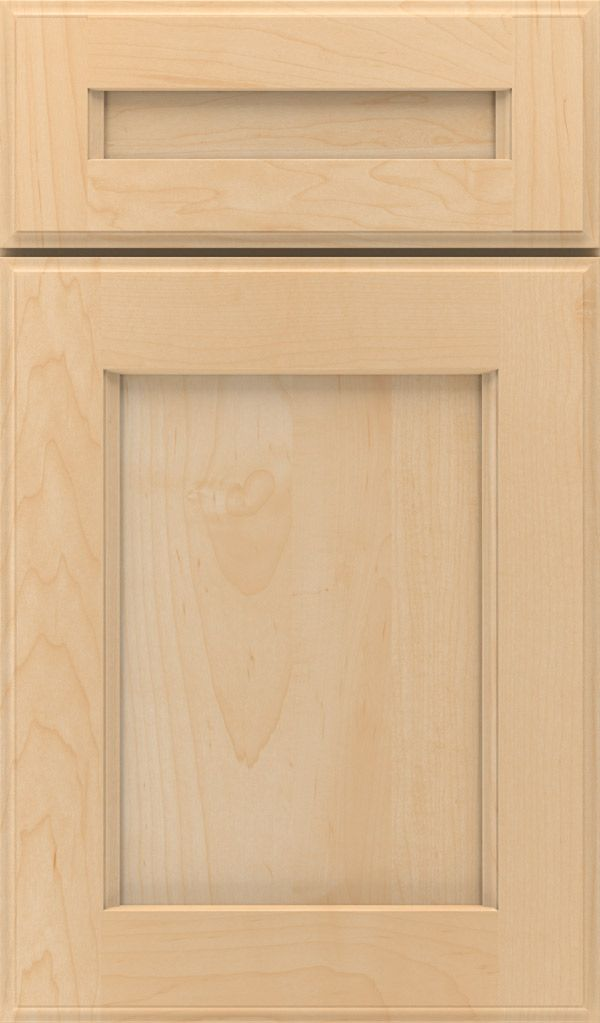 Treyburn 5 Piece Maple Recessed Panel Cabinet Door In Natural Cabinet Door Styles Cabinet Doors Cabinetry