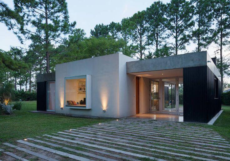 Casa en el pinar realizado en materiales como el hormig n - Casas de cemento y madera ...