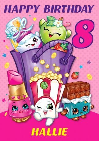 Shopkins Birthday Card - Special Daughter 8th Birthday ...