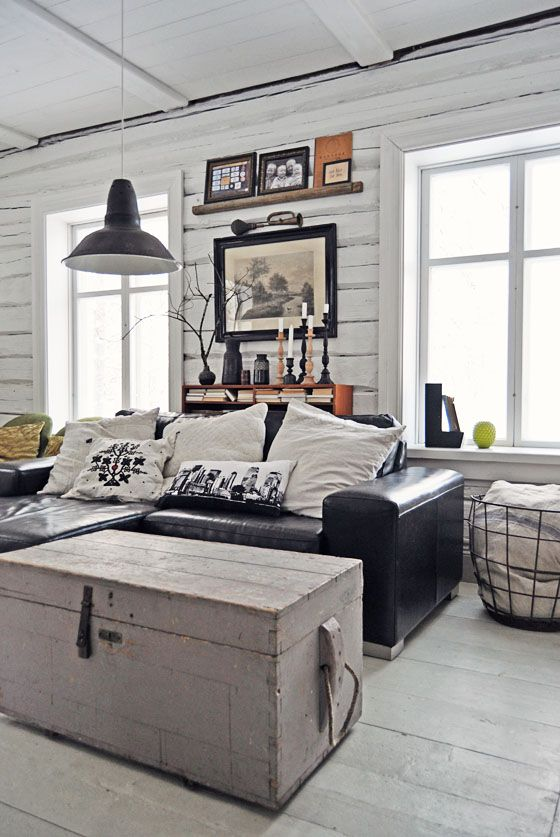 Le bois peint en blanc, luminosité garantie! Lundagard, Finland