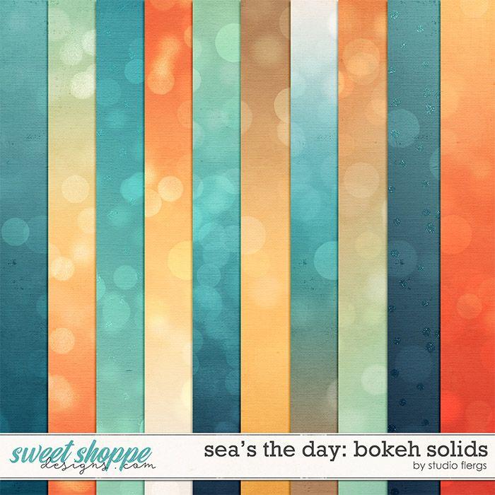 Sea's the Day: BOKEH SOLIDS by Studio Flergs