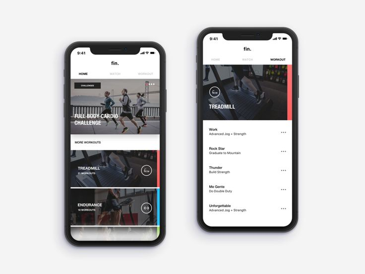 Concept for a fitness application that allows you to customize your workouts based on the equipment you are using.