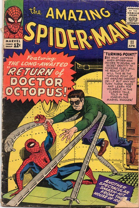 The Amazing Spider-Man #11  Another great tale. This is the first two-part mini-series. the story will move on to #12. Later on, most stories will last three issues. Only Lee could carry on these long plots without falling into mediocrity.