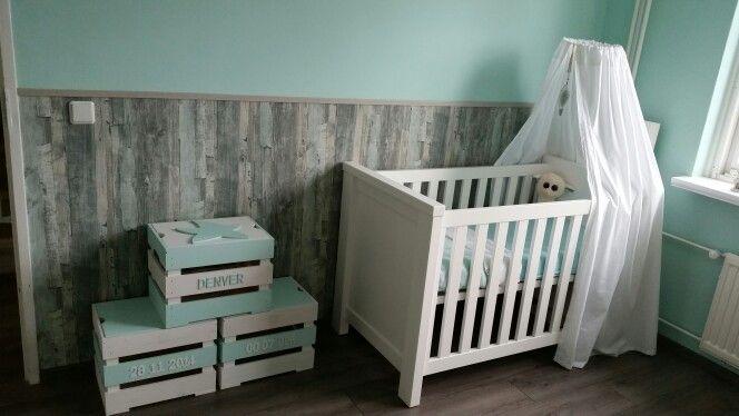 Babykamer mintgroen / strand