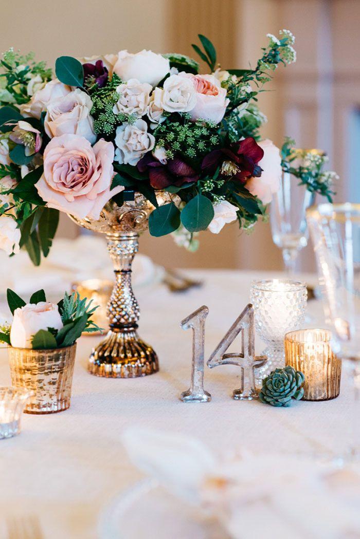 Modern Indoor Garden Wedding in an Elegant Ballroom. Autumn CenterpiecesSimple  CenterpiecesShort Wedding CenterpiecesVintage ...