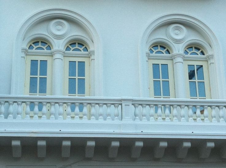 Beautiful architecture being brought back by restoration.