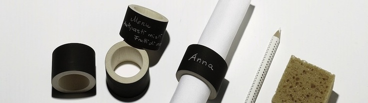 Napkin Rings that you can write on. Great for #dinner and #dinnerparties