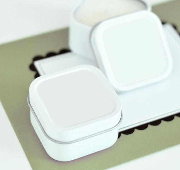 DIY Blank Square Candle Tins #diyfavors